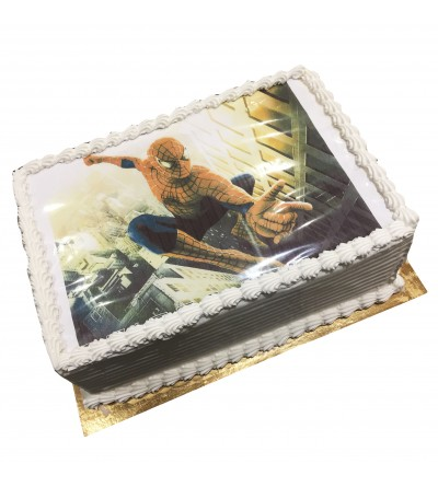 gateau photo spider-man