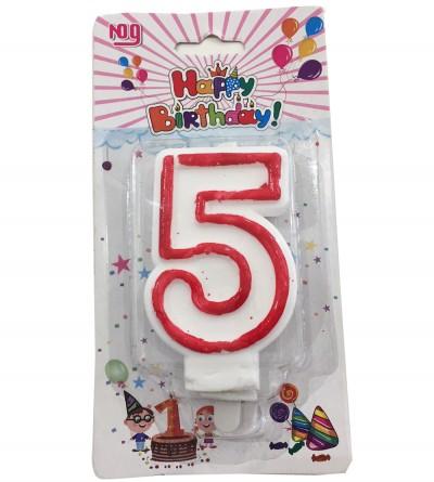 """Bougie en chiffre """"5"""""""